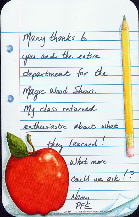 letter teacher: